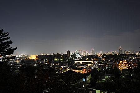 瞑想の松 展望台の夜景