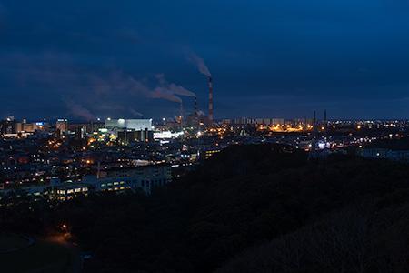 緑ヶ丘公園の夜景