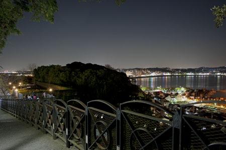 みどりの広場の夜景