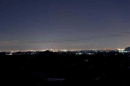 三舟霊園の夜景