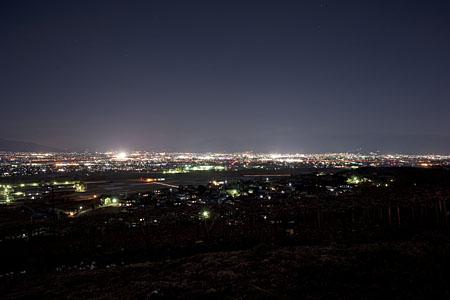 みはらしの丘の夜景