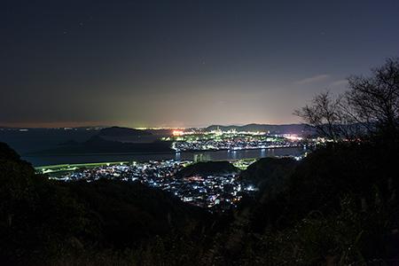有田みかん海道の夜景