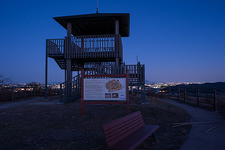 皆川城址公園の夜景