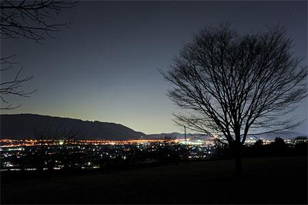 南足柄市運動公園の夜景