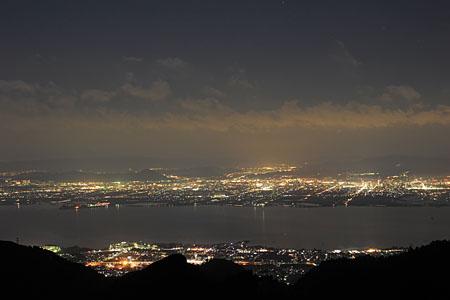 峰道レストラン 奥比叡山ドライブウエイの夜景