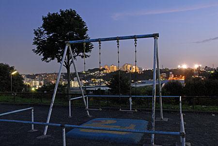 峰岡町三丁目公園の夜景
