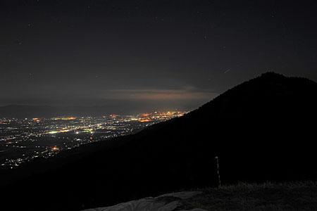 耳納グライダー山の夜景