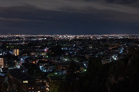箕面温泉スパーガーデン 展望エレベータの夜景
