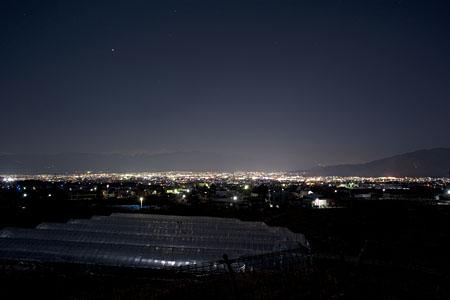 みさか桃源郷公園の夜景