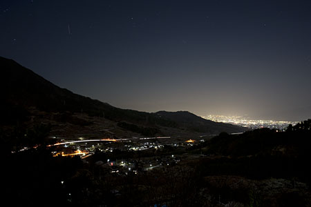 御坂路さくら公園の夜景