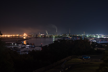 三崎公園 港の見える丘の夜景