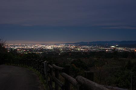 箕郷梅林うめ公園の夜景