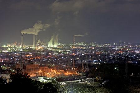 三島公園の夜景
