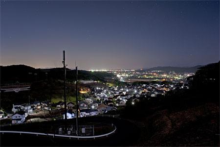 御嵩城趾公園の夜景
