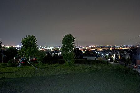 御霊神社の夜景