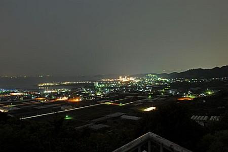 御津山展望台の夜景