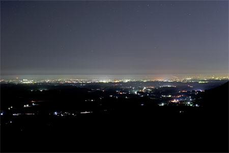 三ッ石森林公園の夜景