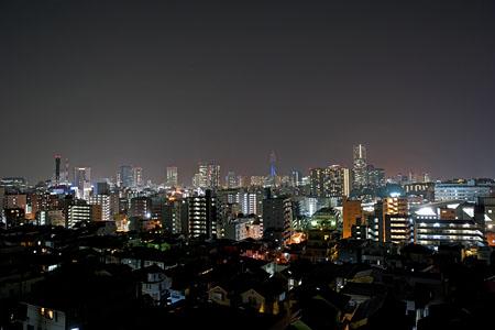 宮田中学校前の夜景