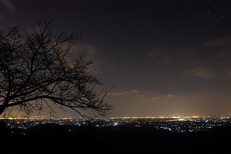 宮妻峡の夜景
