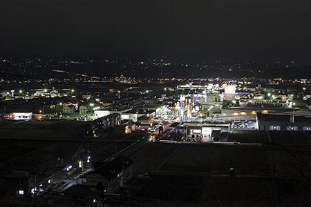 行幸田住宅団地公園の夜景