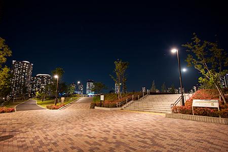 晴海臨海公園 水辺のテラスの夜景