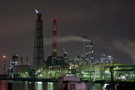 水江町水江運河の夜景