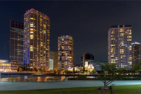 高島水際線公園の夜景