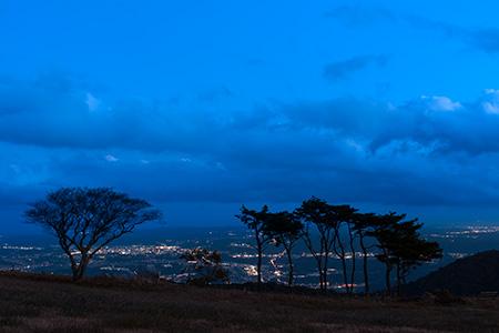水石山公園の夜景