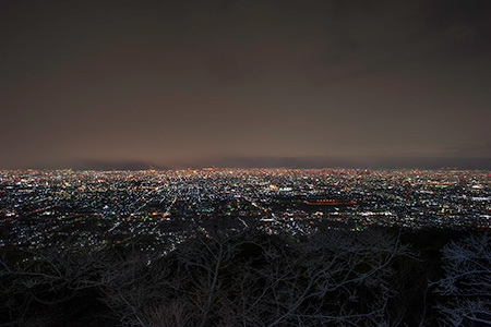 水呑地蔵尊の夜景