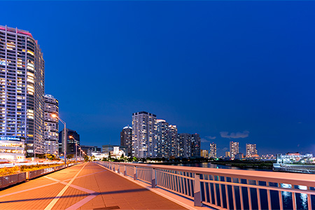 みなとみらい大橋の夜景