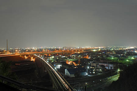 用宗城山の夜景