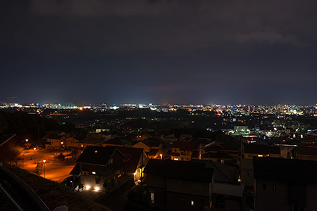 立田もえぎ台 堂ノ前公園上の夜景