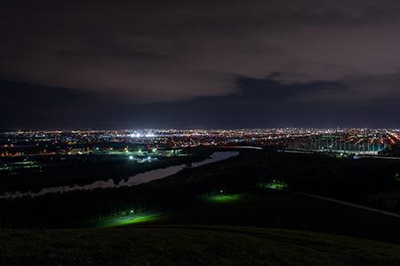 モエレ沼公園の夜景