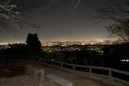 百草台自然公園の夜景