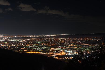 藻岩山観光道路の夜景