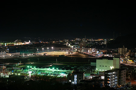 森崎小学校裏の夜景