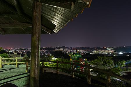 本部公園の夜景