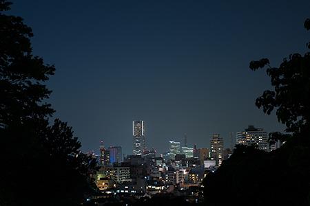元町公園 貝殻坂の夜景