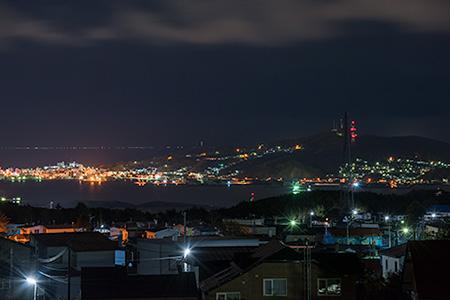 本輪西PAの夜景