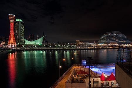神戸モザイクの夜景