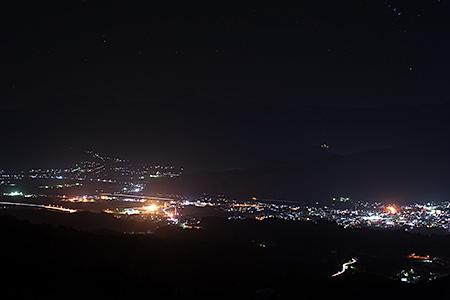 魚沼スカイライン 六日町展望台の夜景
