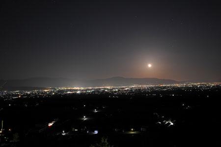 室山アグリパークの夜景