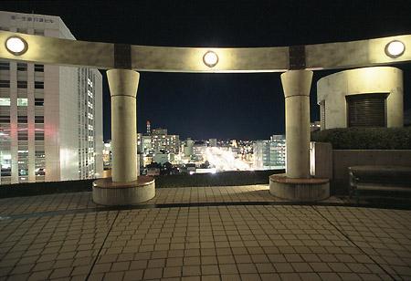 音楽広場の夜景