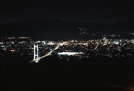 秩父ミューズパーク展望すべり台の夜景