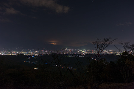 明星山公園の夜景