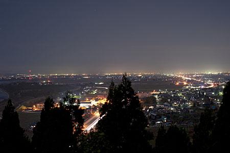 妙見神社の夜景