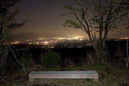明神峠 富士箱根トレイルの夜景