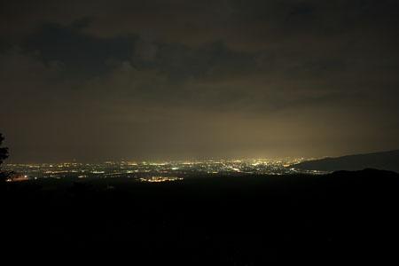 鍋谷和佐谷林道の夜景