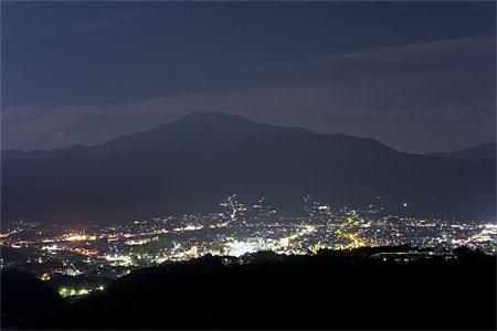 苗木城趾展望台の夜景