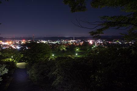 長峰公園の夜景